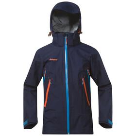 Bergans Youth Ervik Jacket Navy/Lt SeaBlue/Koi Orange